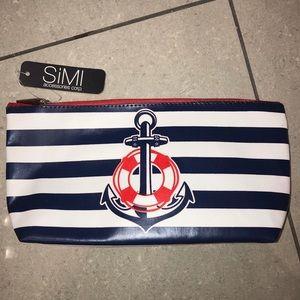 NWT Nautical print makeup/cosmetics bag
